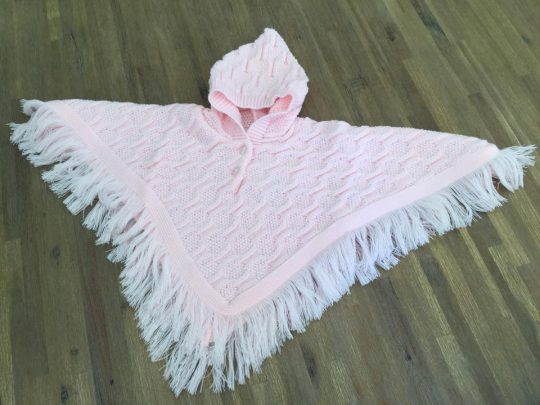 "Poncho bébé "" Pearls Of Baby ""- Rose 3"
