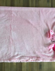 Couverture Microfibre polaire « Pearls Of Baby » – Souris 3D Rose 75×100
