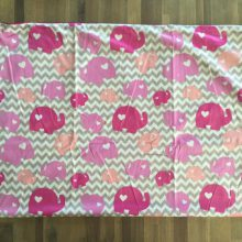 """Couverture Microfibre polaire """"Pearls Of Baby"""" - Elephant 3D Rose 75x100"""