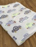 "Couverture Microfibre polaire ""Pearls Of Baby"" - Voiture bleu 100x150"
