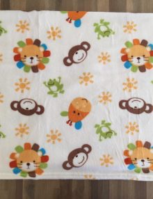 "Couverture Microfibre polaire ""Pearls Of Baby"" - les animaux 75x100"