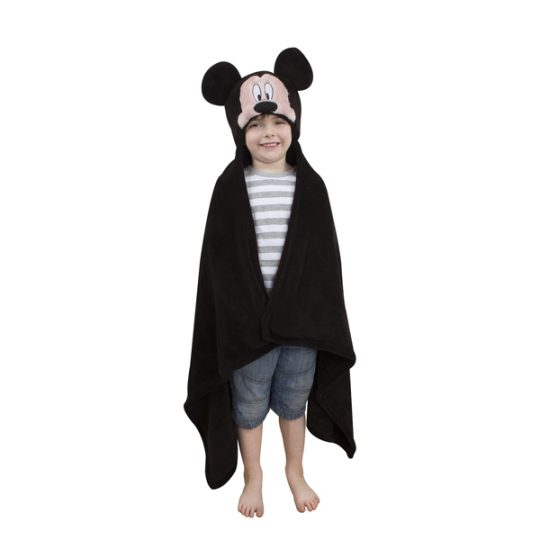 cape polaire mickey personnalisee taille 123-80 cm