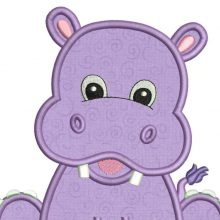 theme hippopotame broderie personnalisée