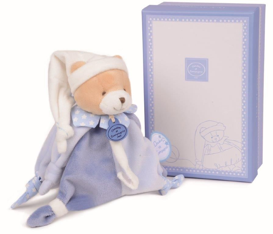 Doudou ours attache sucette pr nom brod pearls of baby - Attache sucette personnalise ...