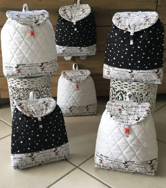 sac à dos bebe minnie et mickey