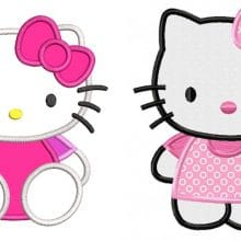 hello kitty broderie