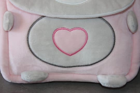 Sac a dos ourson baby rose personnalise 2