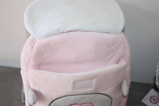 Sac a dos ourson baby rose personnalise 4