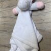 Doudou licorne pearls of baby blanc personnalise