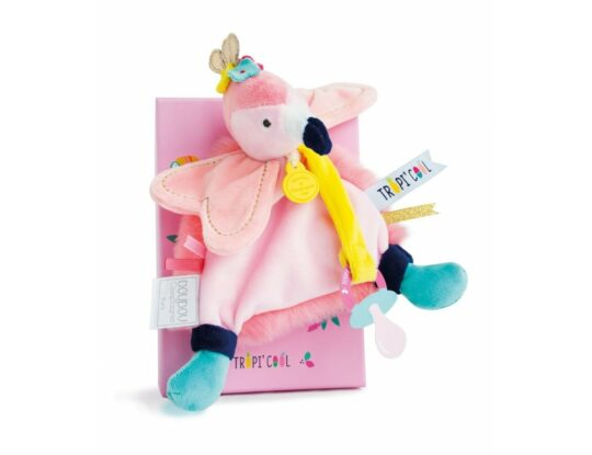 doudou attache sucette flamand rose doudou et compagnie